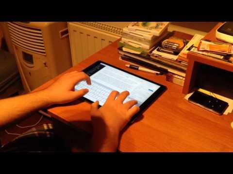 iPad Pro On-Screen Keyboard Typing
