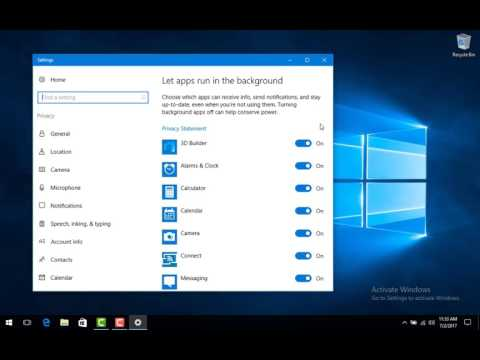 Turn Off Apps Running In The Background | Windows 10 | Save Power | Run Smoother