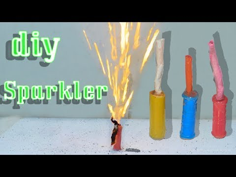 Diy sparkler | Birthday sparkler | Homemade sparkler | how to make sparkler | Stupid engineer.