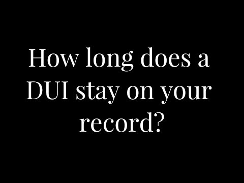 How long does a DUI stay on your record in Maryland? Maryland DUI/DWI Defense Attorneys