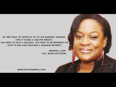 LEARN THE BUSINESS OF SHOEMAKING IN AFRICA (NIGERIA) FROM MONA MATTHEWS