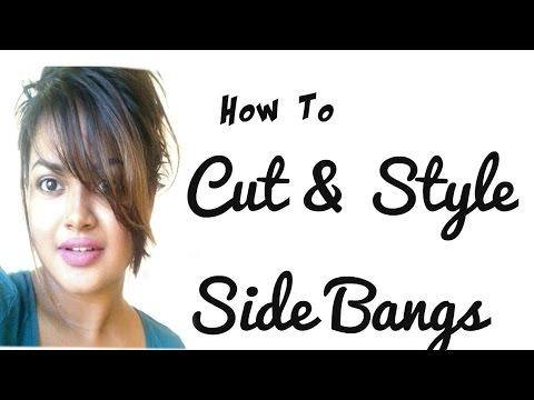 Messy Side Swept Bangs CUT & STYLE |TUTORIAL| ROCHELLEWICK | Sri lankan/ Indian MUA