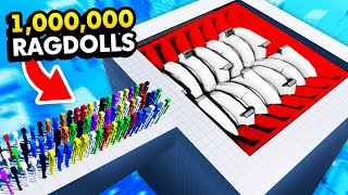 1,000,000 RAGDOLLS vs WORLD'S BIGGEST SHREDDER (Fun With Ragdolls: The Game Funny Gameplay)