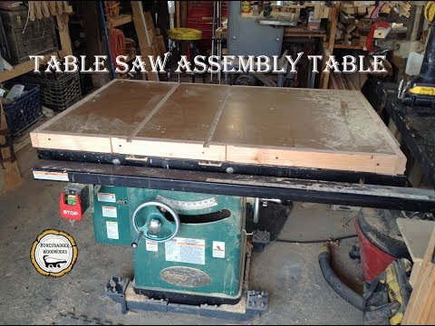 Woodworking : Torsion Box Outfeed Table Saw Table // How-To Part One