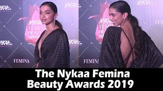 H0T Deepika Padukone In Backless Gown At Nykaa Femina Beauty Awards 2019