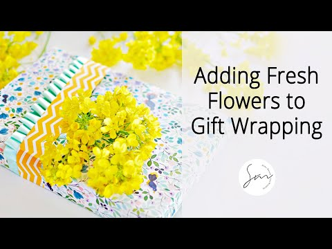 Perfect Way to Tell Your Mother How Much You Love Her! ~Gift Wrapping Idea with Fresh Flowers~