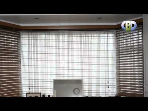 WoodenVenisionBlinds with Nets&Voils Collections at www.leadinginteriors.com