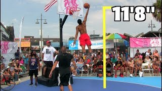 Jonathan Clark Dunks ALMOST 12 Feet!!! Gets 11