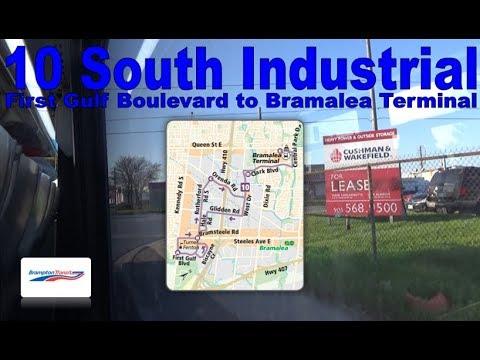 10 South Industrial - Brampton Transit 2017 Nova Bus LFS 1701 (First Gulf Blvd to Bramalea Terminal)