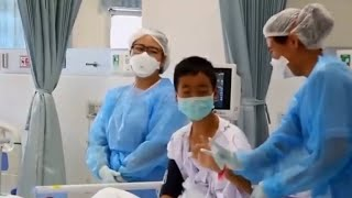 Thai soccer team improving in hospital days after rescue