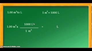 Unit Conversion Cubic Meters M3 To Liters L