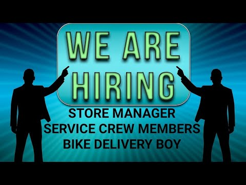 Store manager,crew member,bike delivery boy for Kuwait Ak&sons job's consultancy latest updates 2018