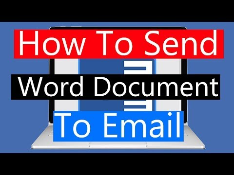 How to Send Word 2016 document to Email