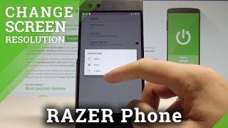How to Change Screen Refresh Rate on RAZER Phone |HardReset.Info