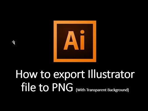 How to export Illustrator file to PNG