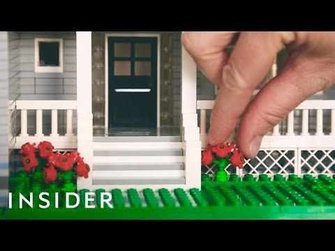 Mini Lego Houses Replicate Real Homes