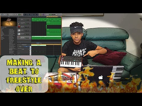 MAKING A BEAT FROM SCRATCH YOU CAN RAP TO ON GARAGEBAND!!!