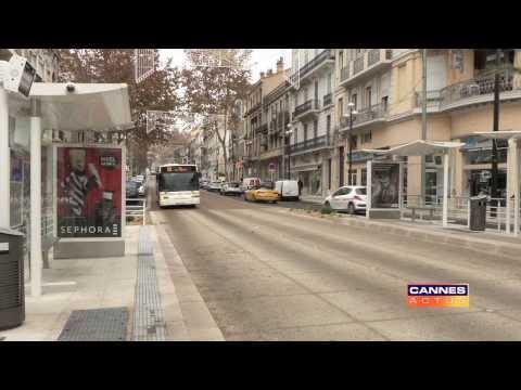 Inauguration de la ligne Palm Express sur le boulevard Carnot à Cannes