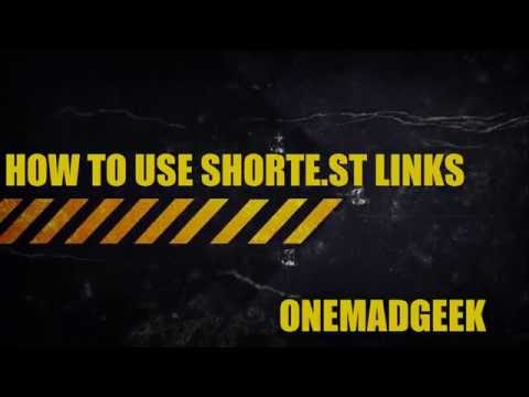 How to use shorte.st links