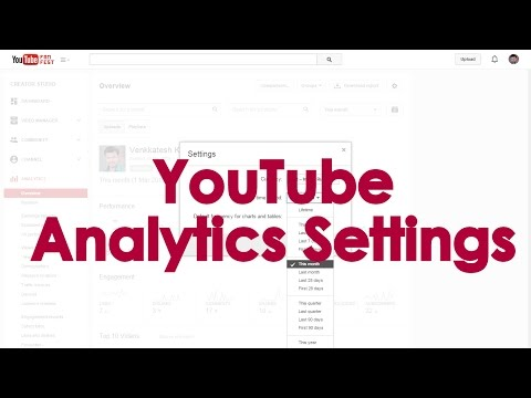 How to change Default Settings of YouTube Analytics Report?
