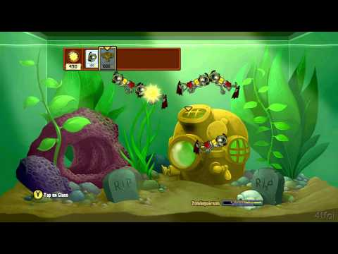 Plants vs Zombies Xbox 360 Zombiquarium Minigame
