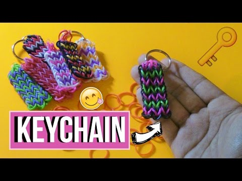 DIY Rainbowloom/Rubber band Keychain l Little Miss Inspiration