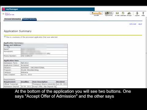 How-to Accept or Decline Your Offer of Admission in myOkanagan