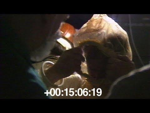 Установка датчиков под днищем реактора ЧАЭС. 1986.06