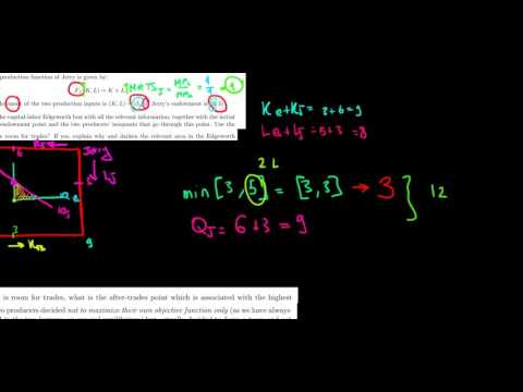 MICROECONOMICS I How To Find The Pareto Optimal Point On The Edgeworth Box With Production Inputs