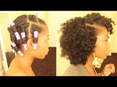 FLAT TWIST OUT ON DRY NATURAL HAIR (PERM RODS)