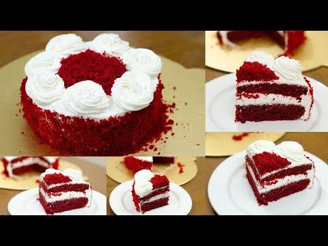 RED VELVET CAKE RECIPE l EGGLESS & WITHOUT OVEN