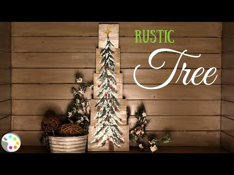 How To Paint a Christmas Tree on Wood | DIY Christmas Decor