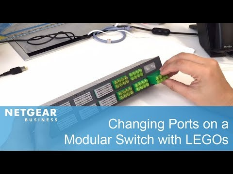 Changing Ports on a Modular Switch With LEGOs | NETGEAR M4300-96X