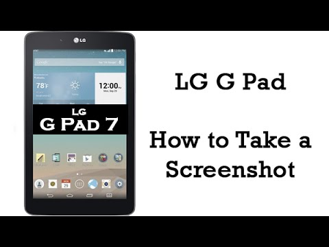 LG G Pad - How to Take a Screenshot​​​ | H2TechVideos​​​
