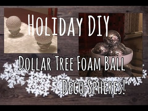 Dollar Tree DIY | Glam Holiday Sequined  & Pearl Balls | Christmas Decor | The Green Notebook