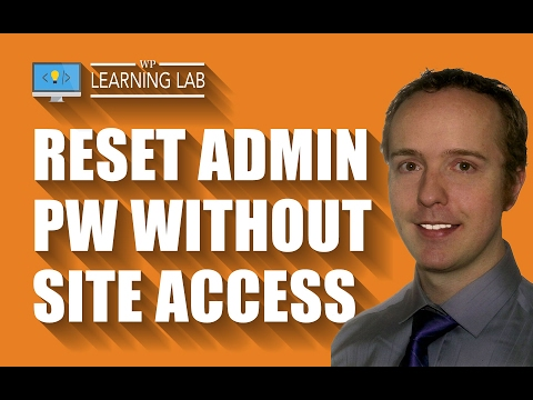 How To Change User Password In phpMyAdmin If You're Locked Out Of Your Site | WP Learning Lab