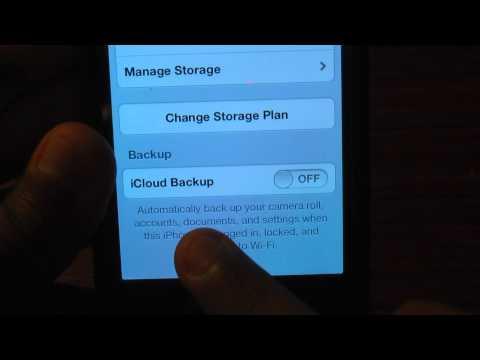 How to setup iCloud on iPhone 4