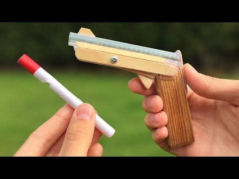 How to Make Amazing DIY Gun That Shoots Using Clothespin and Popsicle Sticks