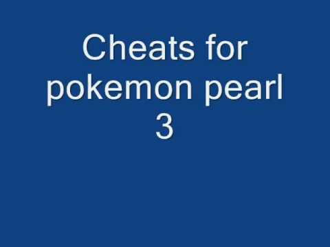 Action Replay Cheats for pokemon pearl my 3rd action replay video