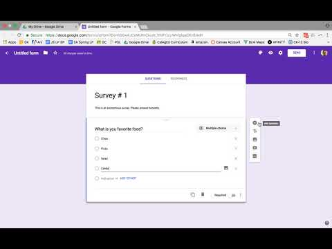 How to create a Survey using Google Forms