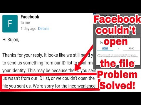 Why Couldn't Open The File You Sent Us Facebook Team | Fix Documents Approved  Solution 2018 (New)