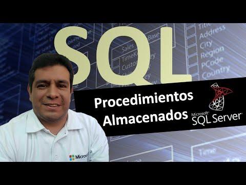 Procedimientos Almacenados en SQL Server 2008