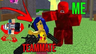 KILLING TEAMMATES AS A ZOMBIE! (Roblox Zombie Attack)