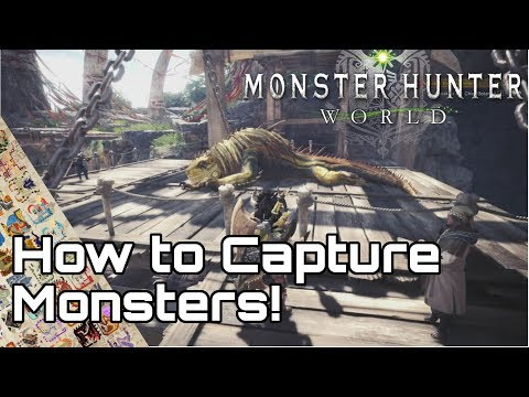 MONSTER HUNTER WORLD! How to Capture Monsters Guide