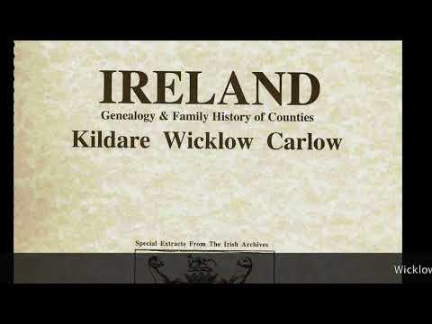Howard family name; Wicklow Ireland genealogy; Popular Irish Baby names IF83