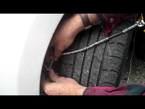 Snow cable installation SCC FRONT Wheel drive
