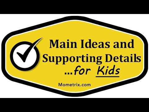 Main and Supporting Ideas in Lit - For Kids