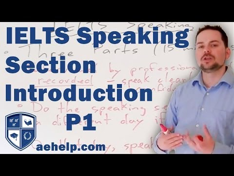 IELTS Speaking Section Introduction and Example Part 1