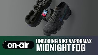 on sale f60a3 1cedc NIKE AIR VAPORMAX MIDNIGHT FOG IRIDESCENT SWOOSH REVIEW + ON ...