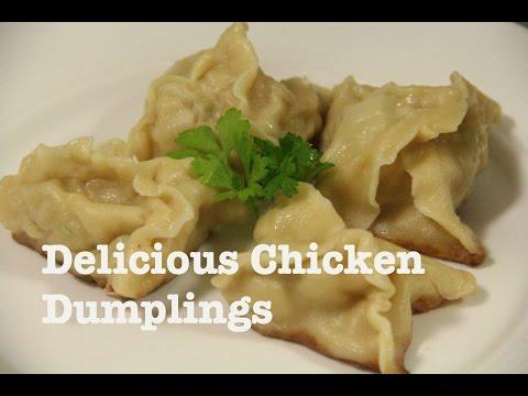 Chicken Dumplings. Chicken Dim Sums. Healthy Recipe.